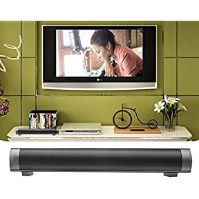 Lononvie Household Speaker,10W Wireless Bluetooth Soundbar(15.7in),Dual Drivers,Hands-free Calls,Support TF Card...