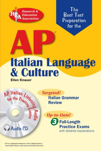 AP Italian Language and Culture w/ Audio CDs (Advanced Placement (AP) Test Preparation) by Brand: Research Education Association