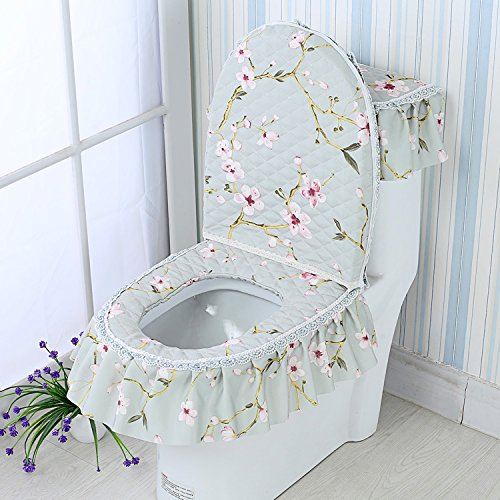 AF GH-Four Seasons General flannel toilet mat, three sets of thickening toilet seat cushion, toilet seat cover, U cushion,ZN