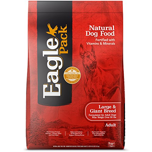 Eagle Pack Natural Dry Large Breed Dog Food, Chicken & Pork, 30-Pound ()