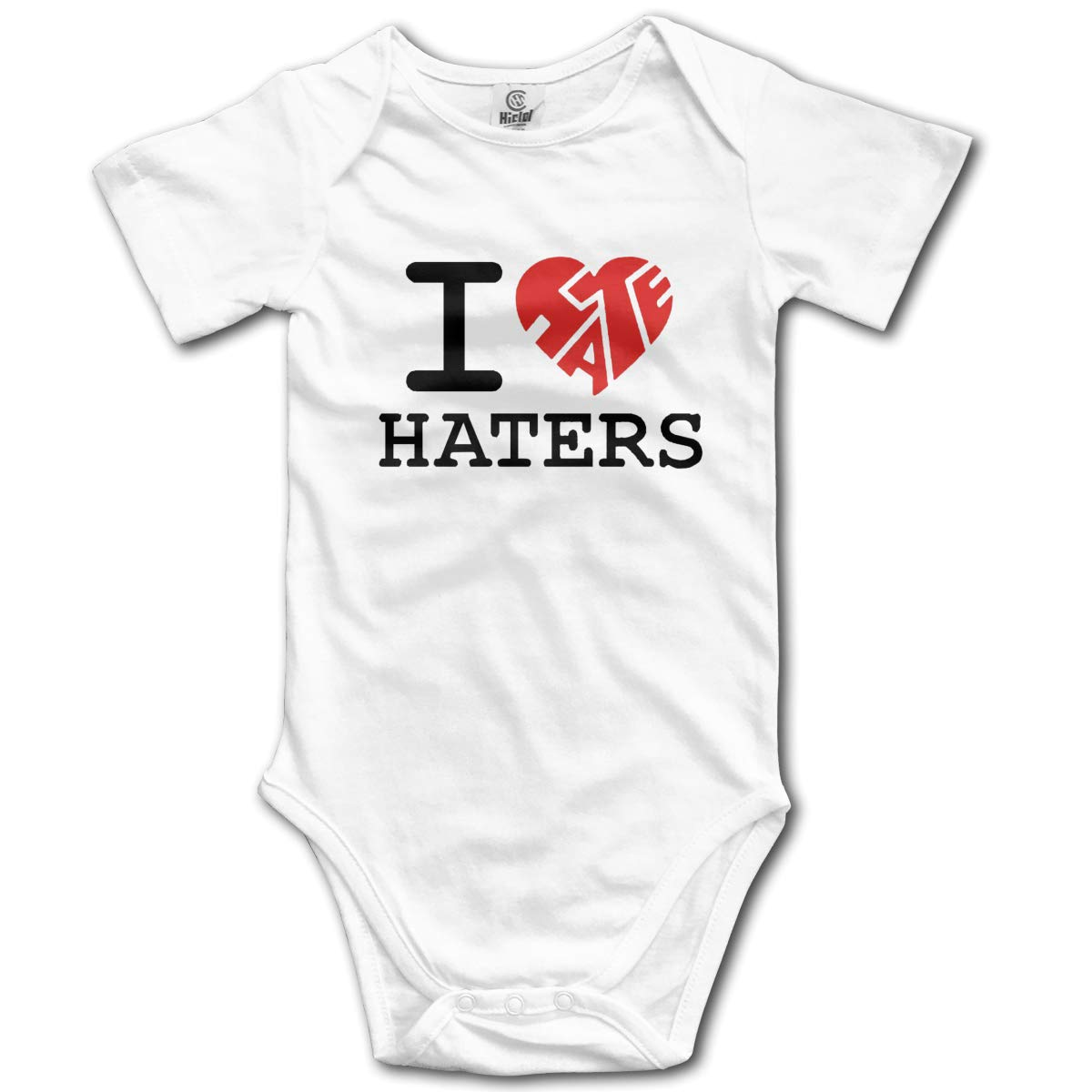 I Love Haters Baby Romper 0-18 Months Newborn Baby Girls Boys Layette Rompers White