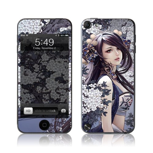 TaylorHe Vinyl Skins for iPod Touch 5 Ultra-slim Protection Perfect Fit Made in Britain Colourful Decal With Patterns Beautiful Girl