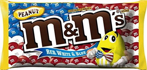 M&M'S Red, White and Blue Peanut Chocolate Candy 11.4-Ounce Bag