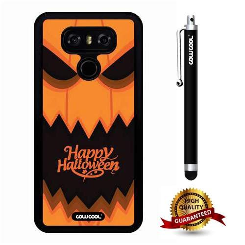 LG G6 Case, Halloween Case, Cowcool Ultra Thin Soft Silicone Case for LG G6 LGH870M - Happy Halloween Evil Pumpkin -