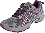 ASICS Women's Gel-Venture 5 Trail Running Shoe, Frost Gray/Gray/Silver/Magenta, 6 M US