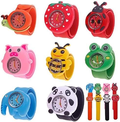 Eachbid Smart applied Cute Cartoon Children Kid Quartz Sports Bendable Rubber Strap Wrist Watch