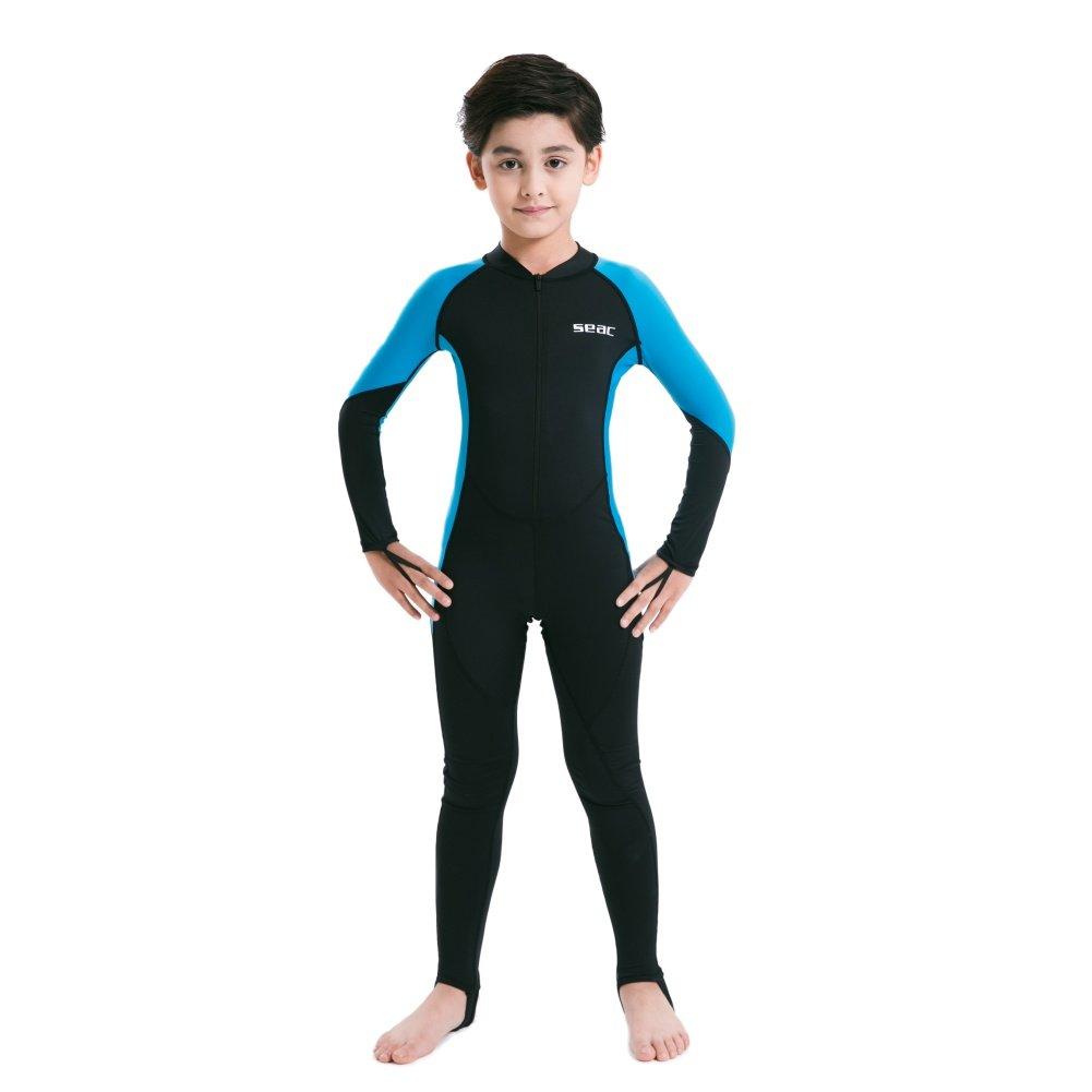 Doubleer Enfants Wetsuit Maillot de Bain pi/èce /à Manches Longues 0.5mm