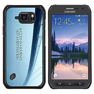Caucho caso de Shell duro de la cubierta de accesorios de protección BY RAYDREAMMM - Samsung Galaxy S6Active Active G890A - Puente de los Sueños de Libertad Blue Mist