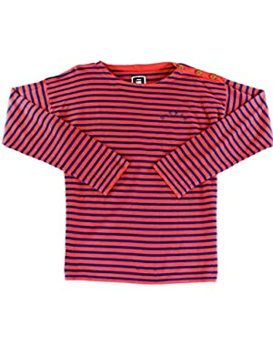G STAR RAW Navy Men Boat Neck Stripe Crewneck Sweater Red 2XL