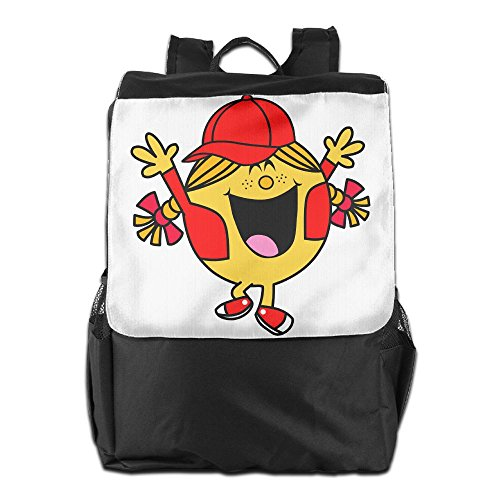 Little Miss Sunshine Costume (Olasy Little Miss Sunshine With Red Jacket And Cap Messenger Bag Shoulder Backpack Travel Hiking Rucksack For Womens Mens Boys Girls School Bookbags One Size)