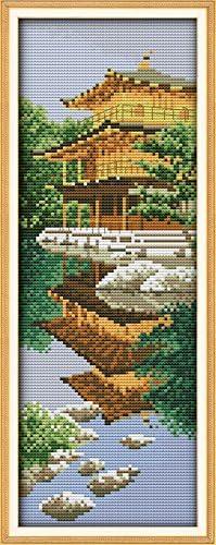 Joy Domingo Juego de punto de cruz 11/CT con sello bordado Kits preciso impreso costura/ /jard/ín japon/és 20//× 48/cm