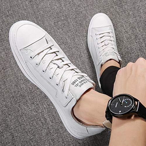 Hommes Chaussures Été Marée Chaussures 2 Cuir Déodorant Blanc Chaussures Hommes Coupe basse Ceinture Sport Et Loisirs Britanniques Chaussures (Couleur : Blanc)