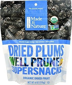 (Made In Nature Organic Pitted Dried & Unsulfured Plums, 6 oz)