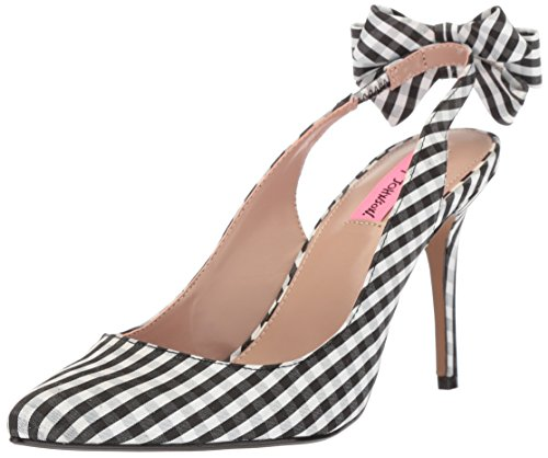 Betsey Johnson Womens Ginjer Pump Black Gingham