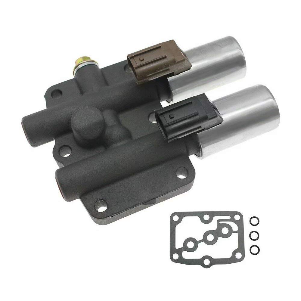 Jahyshow Transmission Dual Linear Solenoid Valve with 1PCS Gasket and 3PCS O-Rings for Honda Accord Odyssey Acura CL TL MDX Pilot Prelude Replace OE# 28250-P6H-024 28250P6H024