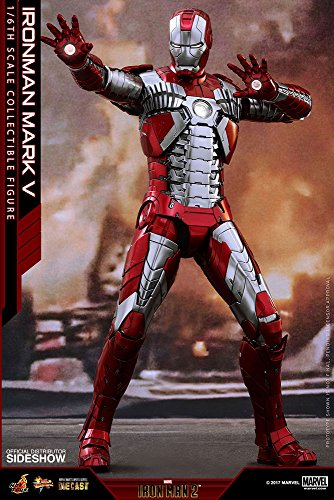 Hot Toys Marvel Iron Man 2 Iron Man Mark V Diecast 1/6 Scale 12