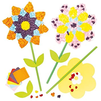 Seidenpapier Blumen Zum Basteln Fur Kinder Ideal Als Geschenk Fur