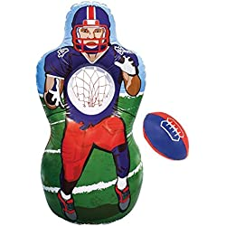 KOVOT Inflatable Football Target Set - Inflates to 5 Feet Tall! - Soft Mini Football Included
