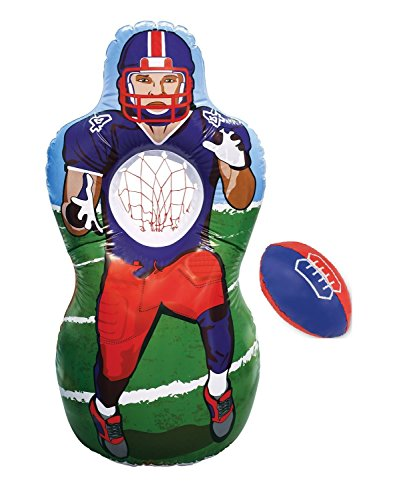 Kovot Inflatable Football Target Set - Inflates to 5 Feet Tall! - Soft Mini Football Included -