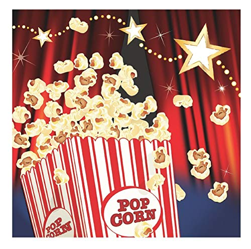 Hollywood Lights Beverage - Hollywood 'Lights, Camera, Action' - Movie Theme Birthday Party Beverage Napkins