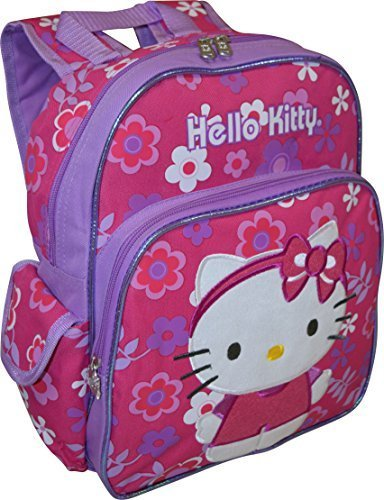 - Hello Kitty Flower Shop Deluxe Embroidered 12 inch School Bag Backpack