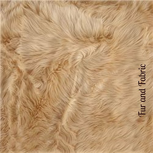 Fur Accents Classic Rectangle Sheepskin Area Rug Plush Faux Fur 3 x5 , Tan Camel