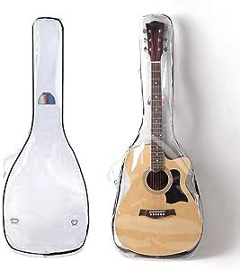 Funda de guitarra transparente acústica de tamaño completo 40 41 42 pulgadas Estuche de guitarra: Amazon.es: Instrumentos musicales