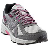 ASICS Women\s Gel-Venture 6 Running-Shoes,Carbon/Black/Pink Peacock,9 D US