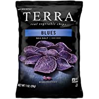 24-Pack TERRA Vegetable Chips, Blues with Sea Salt, 1 Oz