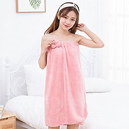 a95476b403835 Amazon.com  WDDH Women s Spa Bath Cloth Towel Wrap Bath Wrap Terry ...