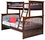 Columbia Bunk Bed, Twin Over Full, Antique Walnut