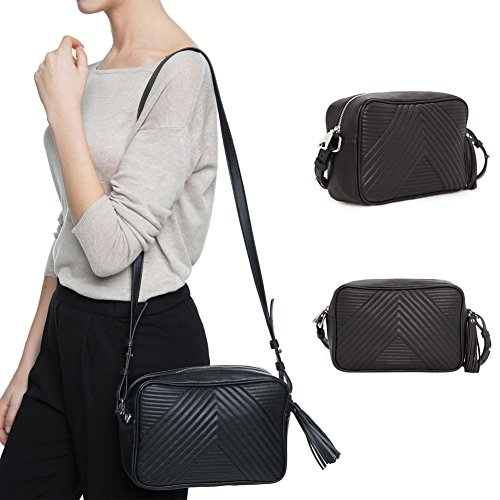 Women Leather Crossbody Satchel Ladies Shoulder Handbag Purse Messenger Bag, Sequined design manifest your elegancy and charming and cute. - Shoes Versace India