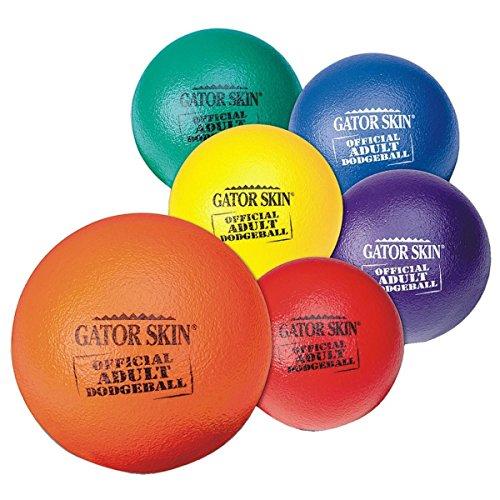 S&S Worldwide UA801-6C Gator Skin Official Adult Dodgeball, (Pack of 6)