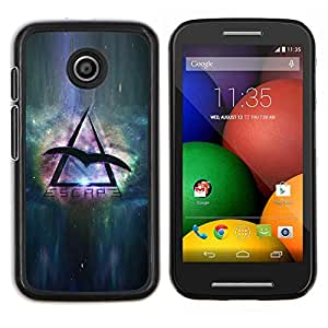 Queen Pattern - FOR Motorola Moto E (1st Gen, 2014) - space travel eagle universe triangle symbol - Cubierta del caso de impacto con el patr???¡¯???€????€??