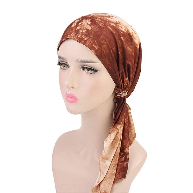 Rcool Gorras de béisbol Viseras Gorro de pescador Pamelas Sombreros Panamá, Mujeres colorido musulmán estiramiento retro turbante sombrero A: Amazon.es: ...