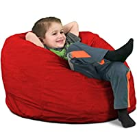 ULTIMATE SACK Bean Bag Chairs in Multiple Sizes and Colors: Giant Foam-Filled Furniture - Machine Washable Covers, Double Stitched Seams, Durable Inner Liner.