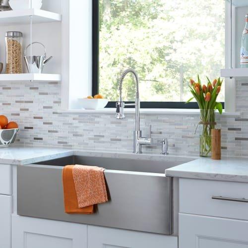 Mirabelle MIRXCPS101 Presidio Kitchen Faucet, Stainless Steel