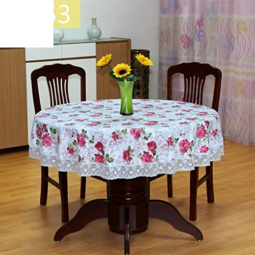 Tablecloth Vinyl Printed 60 Inches Round - 6
