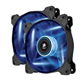 Corsair Air Series AF120 LED Quiet Edition High Airflow Fan Twin Pack CO-9050016-BLED (Blue)