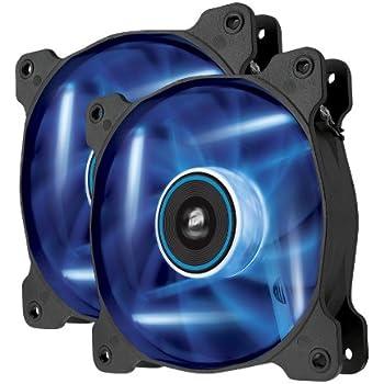 Corsair Air Series AF120 LED Quiet Edition High Airflow Fan Twin Pack - Blue