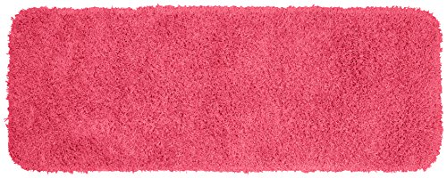 Garland Rug Jazz Runner Shaggy Washable Nylon Rug, 22-Inch by 60-Inch, Pink - Machine Made Made in the USA Machine Washable Latex Backing - runner-rugs, entryway-furniture-decor, entryway-laundry-room - 51Nxm%2Bcx%2BML -