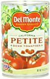 Del Monte Petite Diced Tomatoes, 14.5-Ounce (Pack of 12)