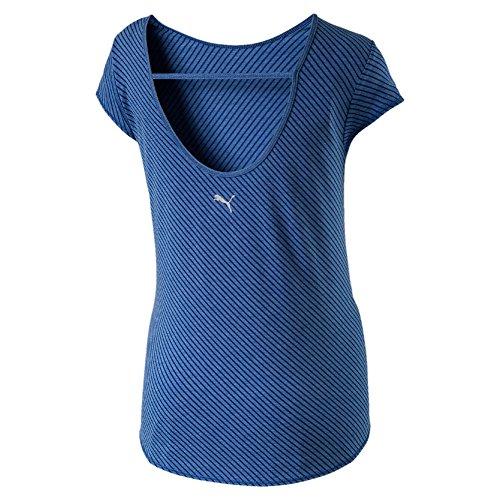 Puma Dancer Drapey Haut Femme, True Blue Heather/Stripe, Grand