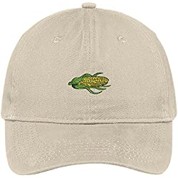 Trendy Apparel Shop Corn Dog Embroidered Low Profile Soft Cotton Brushed Baseball Cap - Stone