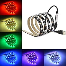 2M/6.56ft Multi Colour Bias Lighting, dinpa Waterproof USB RGB LED Strip Light for HDTV/PC/Computer/Desktop Monitor and more - Reduce visual fatigue and increase image clarity