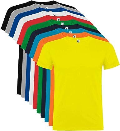 Pack de 10 Camisetas de Manga Corta para Hombre, 100% Algodón ...