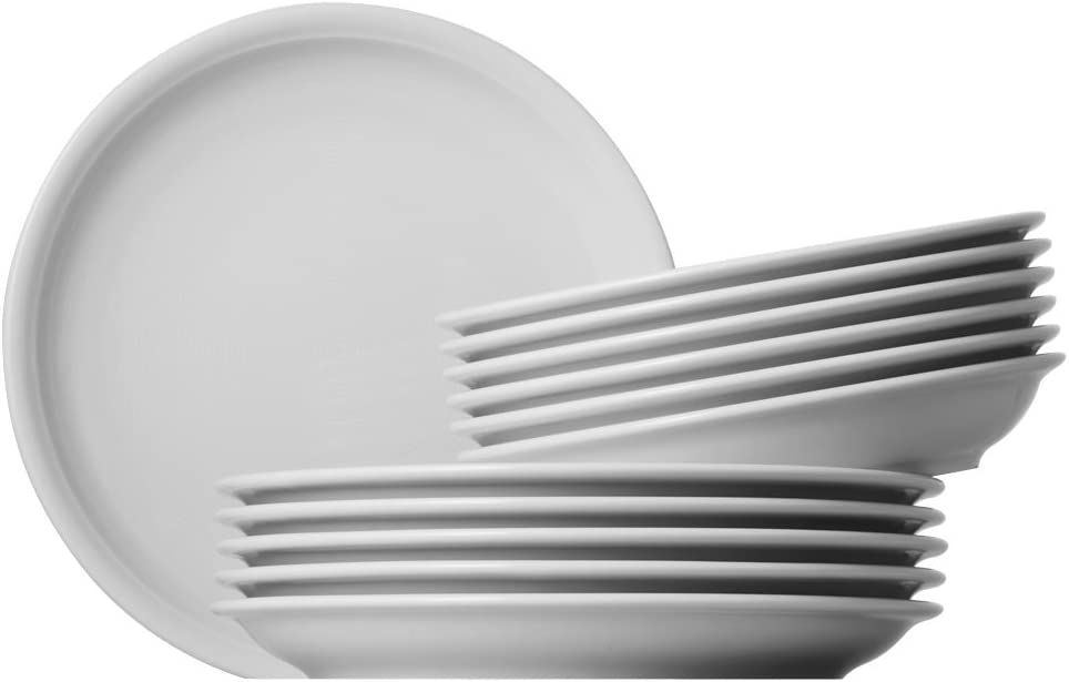 12-pcs Crockery Porcelain Dishwasher Safe 18339 Thomas Trend Tableware Set White
