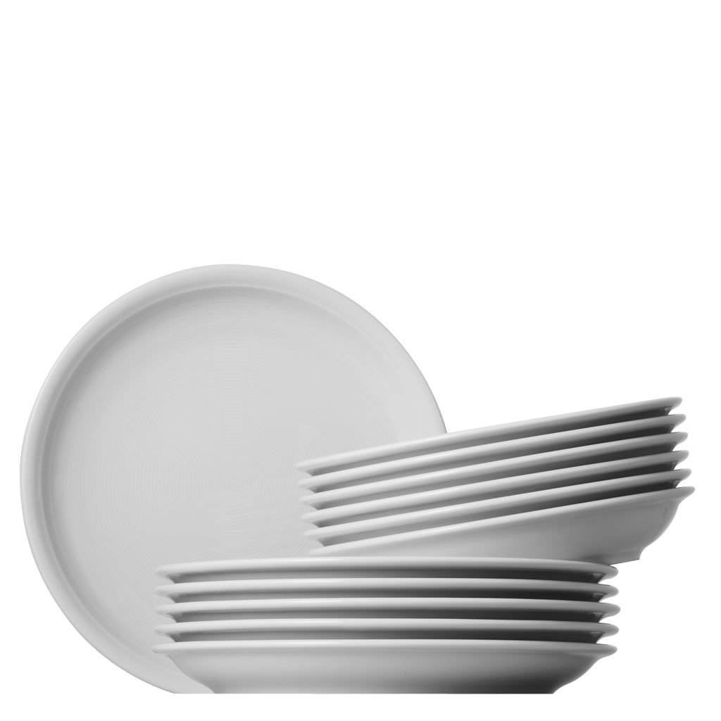 Thomas 11400-800001-18339 Trend Tafel Set 12-teilig, weiß weiß