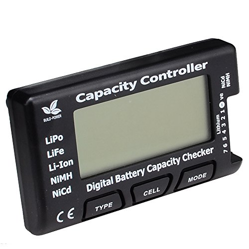 FPVKing RC CellMeter-7 Digital Battery Capacity Checker Controller Tester for LiPo LiFe Li-ion NiMH Nicd ()