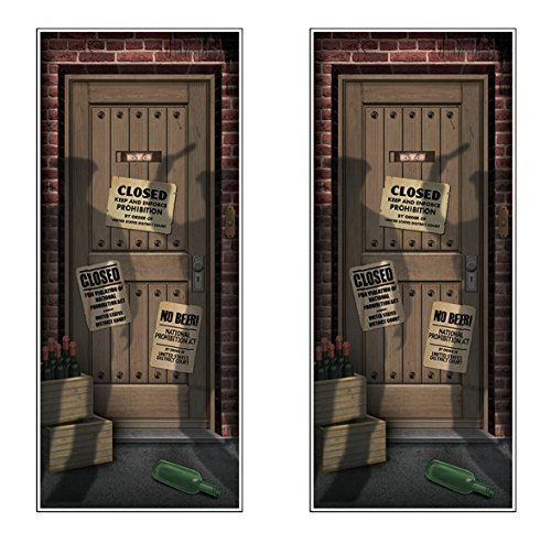 Beistle 54986 Speakeasy Door Covers 2 Piece, 30